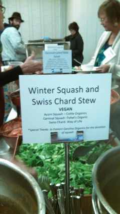 winter squash and swiss chard stew